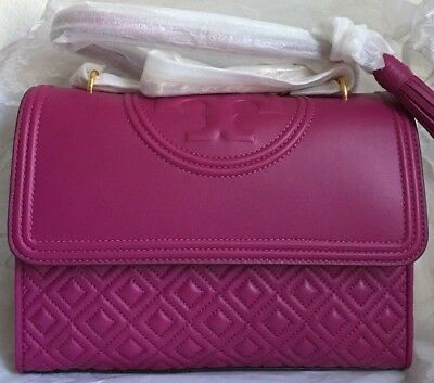 5d967a5d7c7 NWT!! TORY BURCH FLEMING CONVERTIBLE SHOULDER BAG  498 Party Fuchsia ...