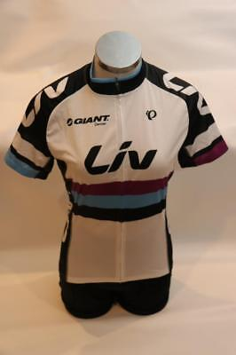 official photos 25845 c5a7f New Pearl Izumi Elite Liv Giant Women s Cycling Jersey Bike Large White  Black
