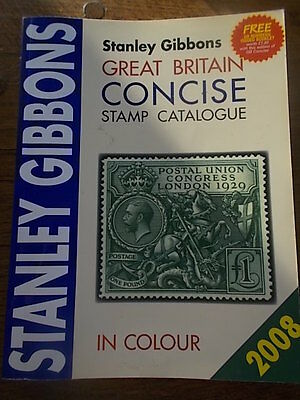 Stanley Gibbons Great Britain Concise Stamp Catalogue in Colour 2008 Edition VGC