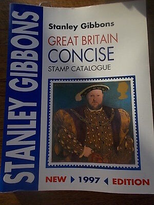 Stanley Gibbons Great Britain Concise Stamp Catalogue in Colour 1997 Edition VGC