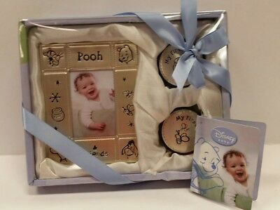 Disney Keepsake Boxes Winnie the Pooh Frame Tooth and Curl NEW! in box