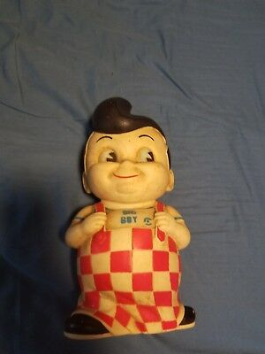 Vintage-Retro-Bobs-Big-Boy-1970s-Collectible-Coin-Money-Bank-Soft-Vinyl-RARE  V