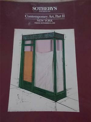 Sothebys Auction Catalogue CONTEMPORARY ART Part 2 New York 1988 with Price List