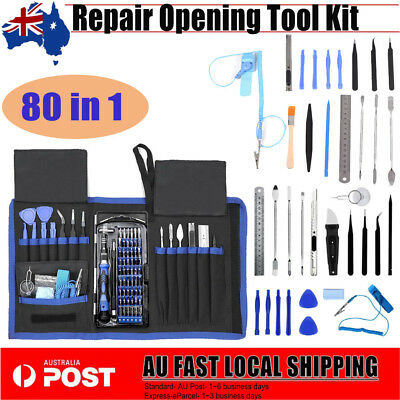 80 in 1 Repair Opening Tool Kit Screwdriver Set For Phones iPad PC Electronics