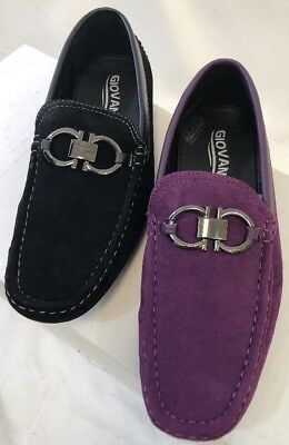 b900331d1c5 MEN GIOVANNI DRESS Shoes Prom Loafer Casual Style Slip-On Buckle Black  Purple 07