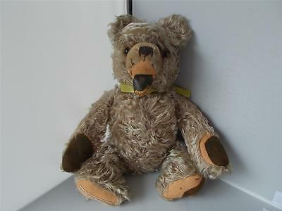 Extremely RARE Antique Vintage Bear Straw Filled Jointed Growler German maker