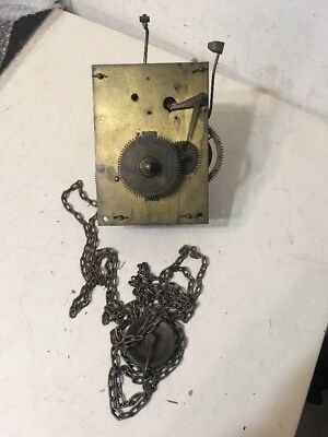 Antique English Tall Case Grandfather Clock Movement Parts