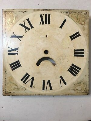 Antique English Tall Case Grandfather Clock Dial