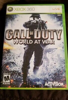 Call of Duty: World at War COD WAW (Microsoft Xbox 360, 2008)