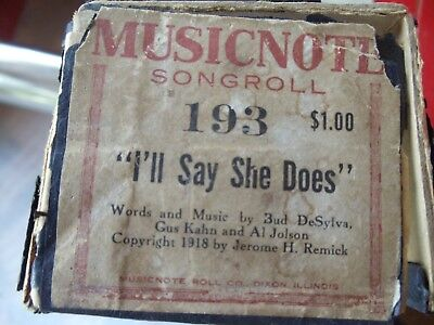 88 NOTE PIANO Music Roll #25015 American Beauties March and