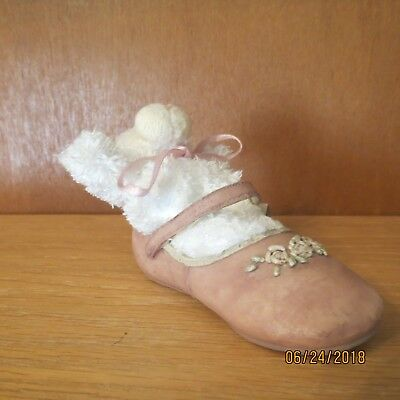 2001 Boyd's Bear- Foot Friends Mimsie Weesteps Pink Mary Jane Baby Shoe with Tag