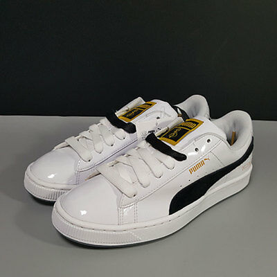 BTS PUMA SNEAKERS Shoes BASKET MADE by BTS White Black Gold