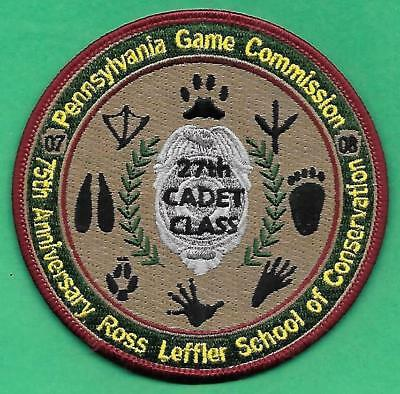 Pa Pennsylvania Game Commission Ross Leffler School 75th Anniv 27th Class Patch