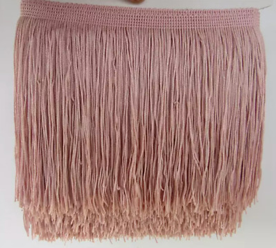 Dusty Pink 15cm Braid Trim Tassel Fringe Lace Price per 30cm DIY Craft Clothing