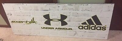 """Adidas Under Armour Store Display Sign  4'10"""" Long And 1' 10"""" High Double Sided"""