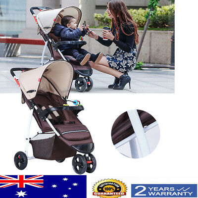 Baby Stroller Infant Pram Compact Lightweight Carry-on Travel Foldable 3 Wheel