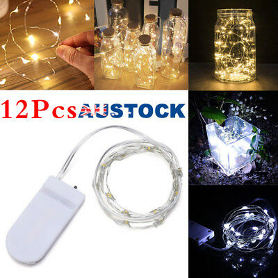 6/12 Pack 20 LED Battery Micro Rice Wire Copper Fairy String Lights Party 2M UK