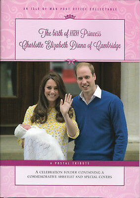 Isle of Man 2015 Birth of Princess Charlotte FDCs & Sheet in Presentation Pack