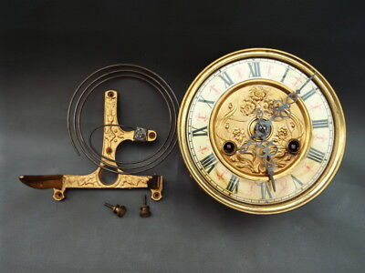 Antique or vintage FMS Vienna style wall clock movement & gong repair or spares