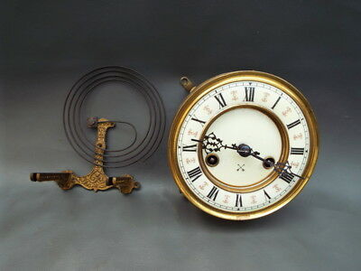 Antique or vintage HAC Vienna style wall clock movement & gong repair or spares