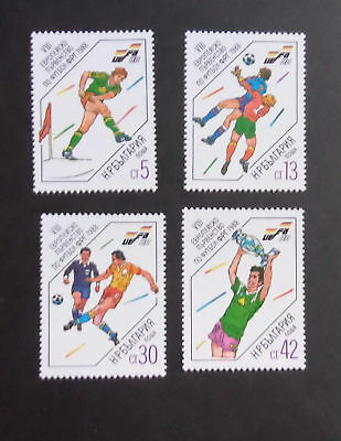 Bulgaria 1988 World Cup Football Championship SG3529/32 MNH UM unmounted mint c