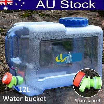 Water Storage Container Can 12L Liter Carrier Tap Food Grade Travel Camping AU