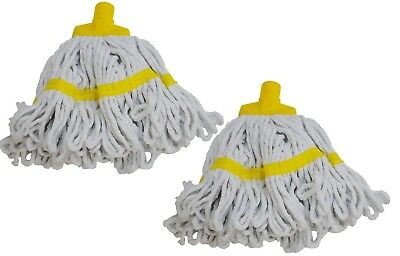 2 x Syr Freedom II Maxi Looped Yarn Coloured Socket Mop Head Yellow 910222 A0-2