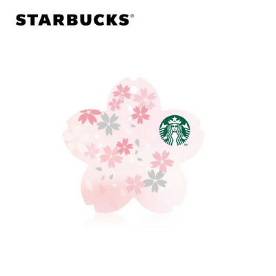 New Starbucks 2018 China Sakura Die-cut SVC Gift Card 1pc Pin Intact