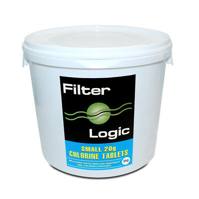 FilterLogic Small 20g /1 inch Chlorine Tablets For Hot Tubs & Swimming Pools 5kg
