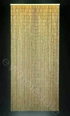 NATURAL BAMBOO CURTAIN BLINDS DOOR FLY SCREEN ROOM DIVIDER HANDMADE 90 Strand