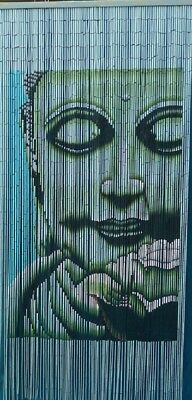 BUDDHA BAMBOO CURTAIN BLINDS DOOR FLY SCREEN ROOM DIVIDER HANDMADE 90 Strands