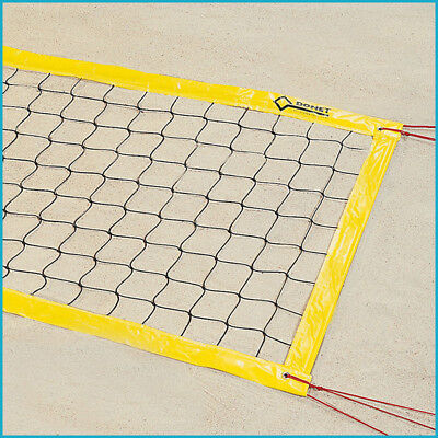 Beachvolleyball Beach Volleyball Turniernetz Turnier Netz, 8,5 x 1,00 m, Gelb