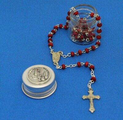 Rose Smell Rosary Petal Red Rare Carved, Rosary of Our Lady Fátima, in box
