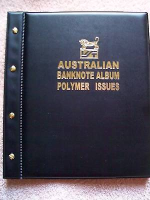 AUSTRALIAN DECIMAL POLYMER BANKNOTE ALBUM BLACK Colour with ILLUSTRATED PAGES