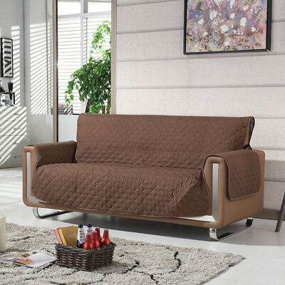 Reversible Couch Sofa Cover Quilted Slipcover Recliner Pet Kids Protector Longue
