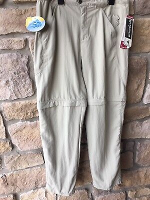 NWT Columbia Titanium Explorer Convertible Zip Off Pants Womens 8 Inseam 32
