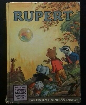 Superb Rupert Annual 1968 Vintage Collectable Magic Painting unclipped nice book