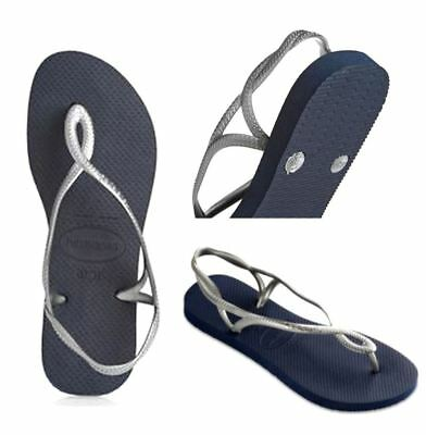 ec4659fbfbb9 Havaianas Brazil Women Flip Flops Luna Sandal Thongs Steel Grey All Size