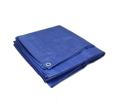 Blue Heavy Duty Tarpaulin 5 Sizes Waterproof Strong Cover Ground Sheet Cheapest