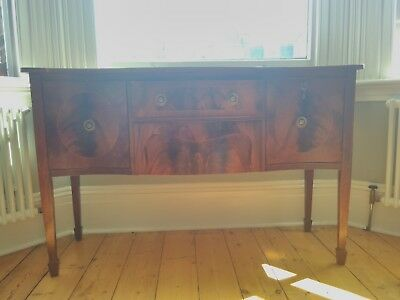 Vintage Edwardian Wood Sideboard