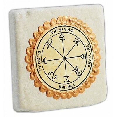 Seal of Courage&Ambition King Solomon's 8th Seal Jerusalem Stone Home Decor 3.8""