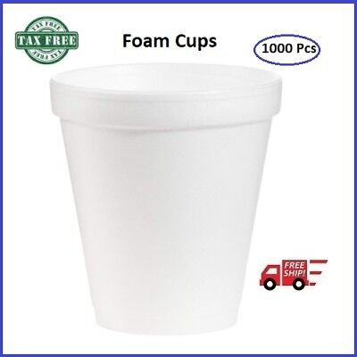 8 Oz Foam Cup Insulated Coffee Hot Cold Beverage Drinking Cups Kitchen Supplies