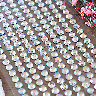 6mm Crystal Rows (Self Adhesive) - Flat-back, Diamonte, Gemstones
