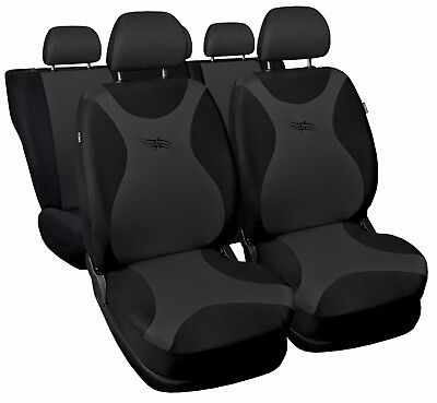 Car seat covers fit Hyundai i30 black/grey full set