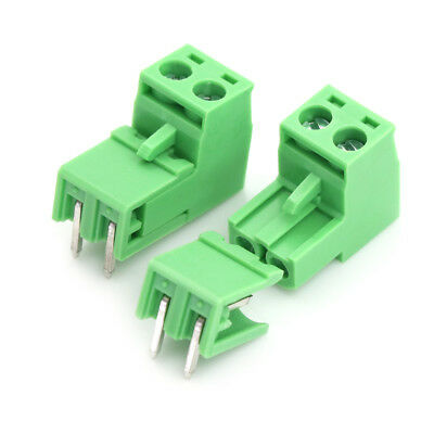 20pcs 5.08mm Pitch 2Pin Plug-in Screw PCB Terminal Block Connector FO