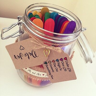 Date Night Jar 27 Fun Date Night Ideas Boyfriend Vouchers Present For Her Quirky 7 99 Picclick Uk
