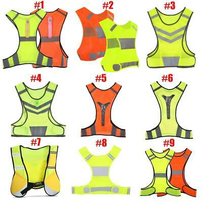Cycling Reflective Vest LED Running Outdoor Safety Jog Breathable Visibility ZY