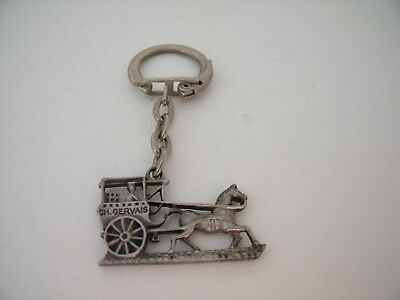 Porte-Clés / Key Ring CHARLES GERVAIS CALECHE CHEVAL / Carriage / HORSE TOP !