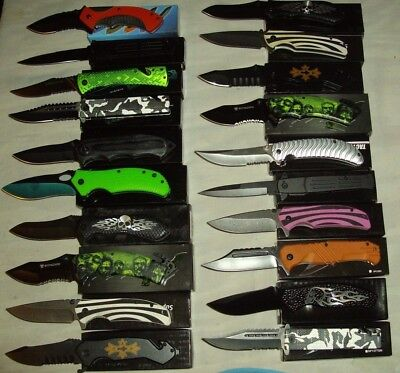 Wholesale lot of 20 pcs- Spring Assisted Stainless Steel Folding Knife (lot1020)