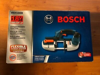 New Bosch BSH180B 18V Cordless Lithium 2-1/2 in. Portable Band Saw Tool Only